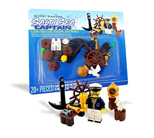 LEGO Salty Sea Captain with Bird, Anchor, Telescope, and More - Custom Sailor Minifigure
