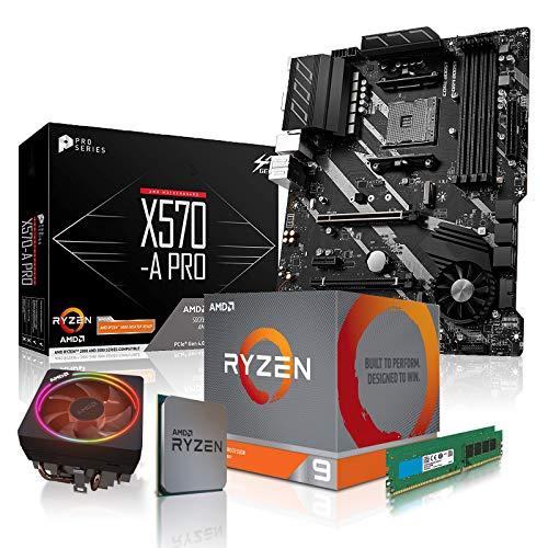 dcl24.de [11795] PC Aufrüstkit AMD 9-3900X 12x3.8 GHz - 32GB DDR4, ohne onBoard Grafik, eigenständige Grafikkarte notwendig, Mainboard Bundle, X570-A Kit, für Spiele und Office geeignet