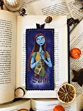 Marcapáginas de tela de Jack Skellington o Sally de Pesadilla Antes de Navidad. Regalo ideal para adolescentes, lectores, bookworms, estudiantes (Sally)