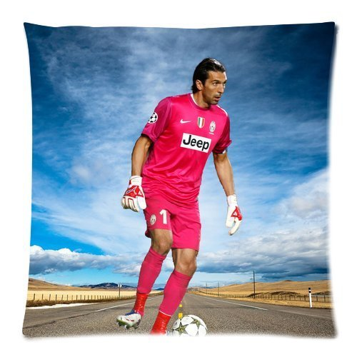 2015 New free shipping cotton square Pillow Cover home Decorative pillowcase Print Famous goalie Gianluigi Buffon Cool Man Pictures Size 18x18in
