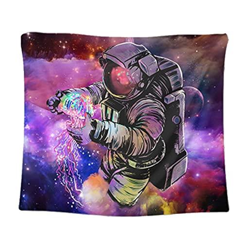 Psicodélico cielo estrellado astronauta tapiz colgante de pared revestimiento de pared tapiz manta tapiz de tela de fondo A2 180x200cm