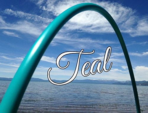"""30"""" 3/4 Colored PolyPro Teal Practice Hula Hoop"""