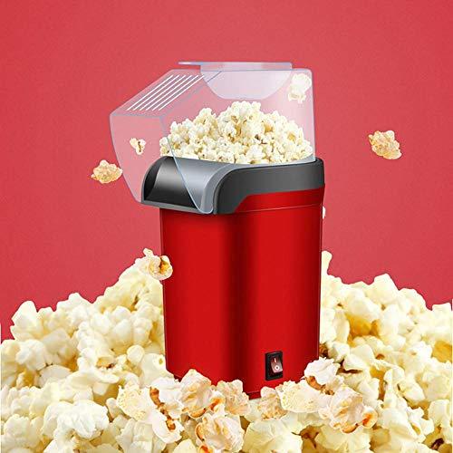 Popcorn Maker für Kinder, Popcorn Maschine, einfach gesünder Snack Popcorn für zuhause oder geben Geschenke (rot)