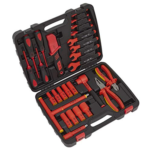 Sealey AK7945 Kit de herramientas aisladas de 1000 V de 27 piezas - aprobado por VDE