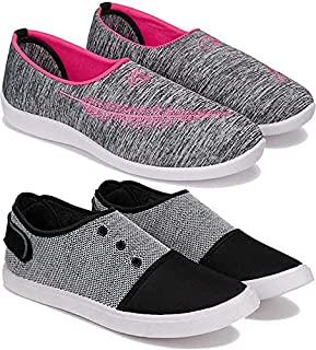 Shoefly Women's (5046-5050) Multicolor Casual Sports Running (Set of 2 Pair)
