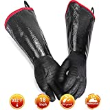 Best Gloves For Grilling - GEEKHOM Heat Resistant BBQ Gloves, 18 inch 932 Review