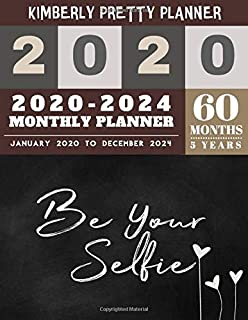 5 year monthly planner 2020-2024: 5 year monthly planner 8.5 x 11 | 60 Months Calendar Large size 8.5 x 11 2020-2024 planner, organizer and internet logbook | be your selfie design