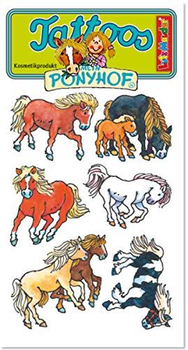 6er-Set Tattoos * Pferde & FOHLEN * vom Mauder-Verlag   44700   Tattoo Kindertattoo Kinder Geburtstag Mitgebsel Tiere