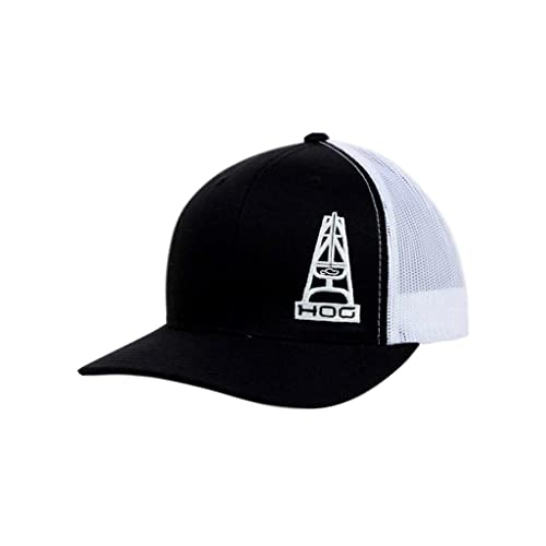 b29402daf0b Hooey HOG Black and White Mesh Trucker Snapback Cap