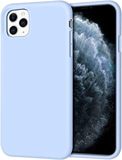 """iPhone 11 Pro Max Case, Anuck Soft Silicone Gel Rubber Bumper Case Anti-scratch Microfiber Lining Hard Shell Shockproof Full-body Protective Case Cover for Apple iPhone 11 Pro Max 6.5"""" 2019 Light Blue"""