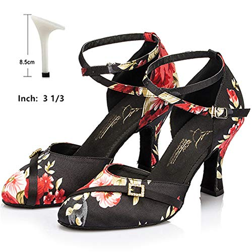 HOAPL Damesschoenen Tango Samba Latino Salsa Raso van Frau Inferiore Molle dansschoenen van Modo sandalen met strass