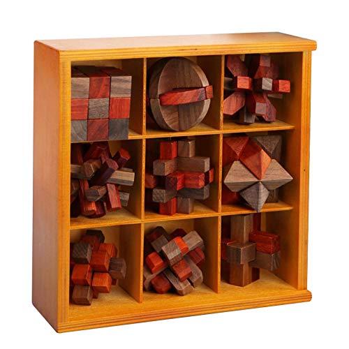 Nrkin Puzle 3D de madera con tareas de pensamiento, dados – Juego de juguetes de madera – Puzzle 3D – Juego de paciencia de madera – Juguete ideal para niños y niñas