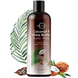O Naturals Moisturizing Body Wash – Coconut Oil, Shea Butter, Dead Sea Minerals, Avocado Oil. Vitamin E – Cleanse, Hydrate & Smooth Skin, Lightly Scented Gentle Daily Body Wash – All Skin Types. 16 oz