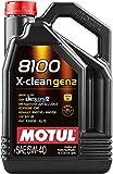 MOTUL(モチュール) 8100 X-CLEAN (8100 X-クリーン) 5W40 100%化学合成エンジンオイル 5L[正規品] 11113961