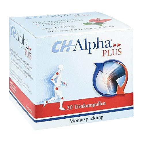 CH-Alpha Plus: Kollagen für die Gelenke, zur Unterstützung der natürlich Regeneration des Gelenkknorpels, mit Vitamin C aus Hagebutten-Extrakt, 30 Trinkampullen