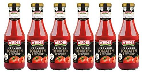 WERDER 6 x Premium Tomaten Ketchup 450 ml