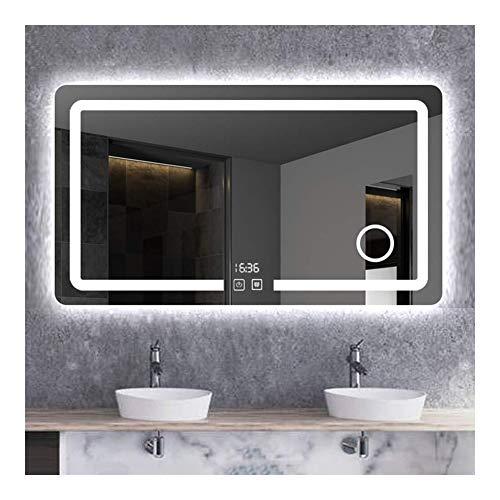 Badkamerspiegel Rechthoekige Wandmontage Met Verlichte Lichten Dimbare Aanraakschakelaar Make-upspiegel (Size : 75cm*100cm(29.5in*39.3in))