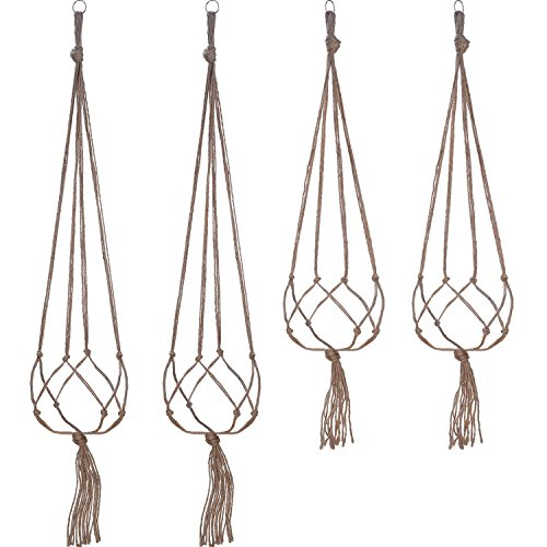 Set da 4 appendivasi con anello per decorazione di interni ed esterni, 2da 105cm e 2da 88cm, 4cime