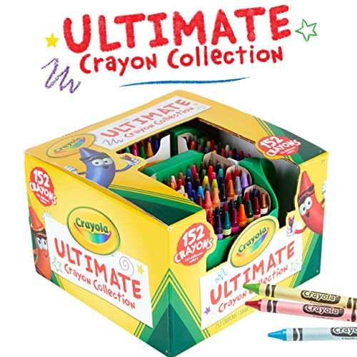Crayola Ultimate Crayon Collection Coloring Set, Gift Age 3+ - 152 Count,Assorted Color