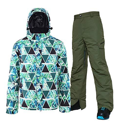 Ski-kostuums voor mannen, jas en skibroek, 2-delige set, geschikt voor snowboarden, bergbeklimmen