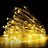 LED Fairy String Lights,33ft 120 Micro LEDs On Silvery Copper Wire Starry Fairy Lights USB Powered Flexible Firefly Ambiance Lighting for Wedding, Bedroom, Christmas, Festivals, Lawn(Warm White)
