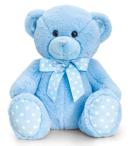 Lashuma Keel Baby Plüschtier Bär Groß in Blau, Kuscheltier Teddy sitzend 35 cm