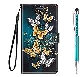 Grandoin Cover per Huawei P50, Custodia Magnetico Flip Case Portafoglio Creativo Disegni Cover in Pelle PU Libro Cover con [Slot per Schede] TPU Silicone Posteriore (Farfalla 3)