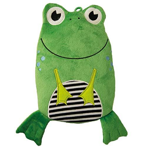 """Hugo Frosch Kinder Öko-Wärmflasche""""Frosch"""" Veloursbezug grün"""