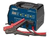 FERM Caricabatterie avviatore di emergenza 6-12V. Protezione contro sovraccarico. 3 regolazioni del carico
