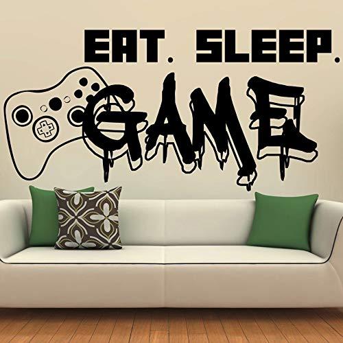 Tianpengyuanshuai Muurkaartlezer, voor eten, slaapcontroller, videospel, muurstickers, slaapkamer, kaart, vinyl, wanddecoratie