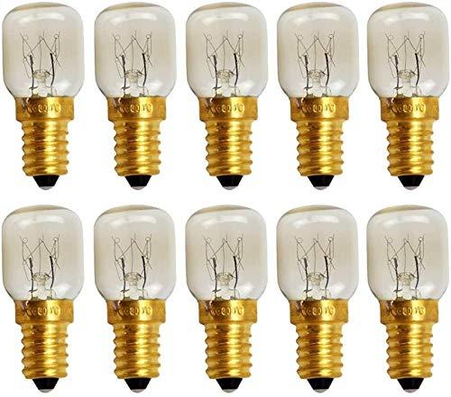 FANPING 10 pack lampe de four E14 transparent ampoule 300 ° Couture machine de machine de machine de machine de cuisson de la lampe de sel d'ampoule ampoule de four 2700k chaude blanche lumière ampoul