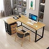 Madera Forma de L Mesas de Oficina de Esquina Madera de escritorio de la computadora, en forma de l grande del ordenador portátil PC Corner Estudio Tabla de estaciones de trabajo Gaming Escritorio for