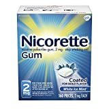 Nicorette 2mg Nicotine Gum to Quit Smoking - White Ice Mint Flavored Stop Smoking Aid, 160 Count