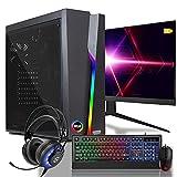 dcl24.de [11749] Gaming Komplett PC Set Bolt RGB AMD Ryzen 3-3200G 4x3.6 GHz - 240GB SSD & 1TB HDD, 16GB DDR4, Vega 8, 24 Zoll TFT Maus Tastatur Headset WLAN Windows 10 Pro