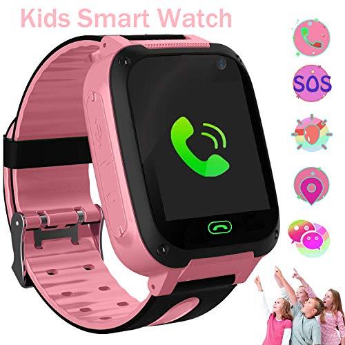 bhdlovely Reloj Inteligente para niños con Linterna, Pantalla táctil, Alarma antipérdida, Reloj Inteligente para Actividades al Aire Libre, Juguetes de Regalo de cumpleaños