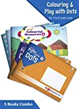 Nurture Colouring and Join the Dots and Color Books for Kids | 3 to 6 Year Old | 3 Colourful Memories Theme based Books along with 2 Play with Dots Fun Activity Books for Children | Set of 5 Books