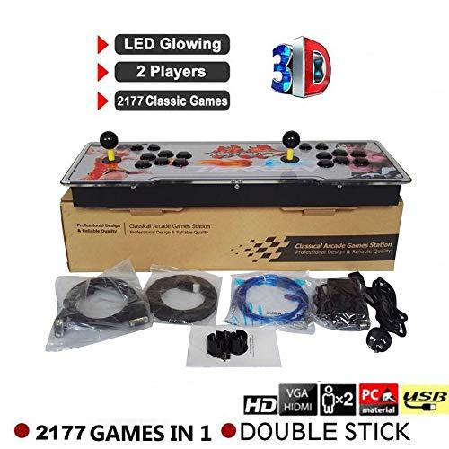Blue-Yan Console de Jeux vidéo Arcade 2177 Jeux rétro HD Pandora's Box 7 Jamma 1080HD Soutien pour Machines d'arcade 2 Joueurs Arcade Joystick