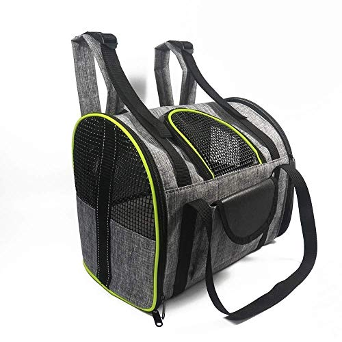 WWQQ Transportador de mascotas, bolsa de viaje para perros y gatos, bolsa de viaje portátil, bolsa de viaje para asiento de coche