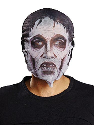 Rubies Rubie's 6240327-STD s - Máscara de zombie para Halloween, color blanco y...