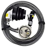 Valterra 10-Foot Sewer Solution Kit, Universal Sewer Hose for RV Camper, Includes one 10' drain hose (OD 1.1'), pump head, sewer adapter, quick connect, and anti siphon valve