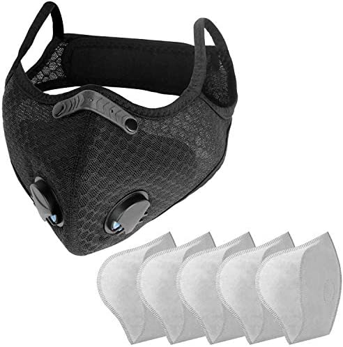 Sports Face Mask with Replaceable Filters NESENNI Mask 1 Mask with 5 Filters product image
