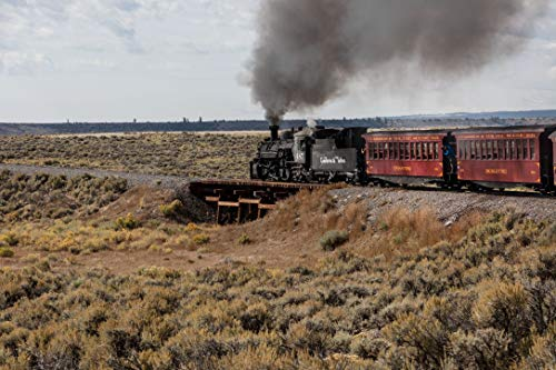 18 x 24 Ready to Hang Canvas Wrap of A Cumbres & Toltec Scenic Railroad steam Train Begins its Climb from The high Desert Around Antonito in Conejos County Colorado Near The New Me c39 2015 Highsmith