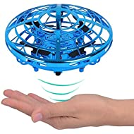 TYZEST Hand Operated Drones for Kids & Adults, with 360° Rotating and Shinning LED Lights, Easy...