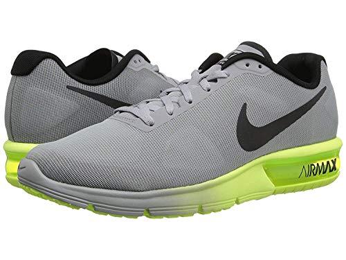 Nike Nike Herren Air Max Sequent Laufschuhe, Gris (Wolf Grey/Black-Volt), 40 EU