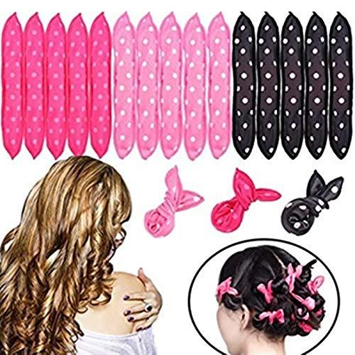 HBGGGGG Cheveux Bigoudi Nuit Sommeil Flexible en Mousse Bigoudi Cheveux Styling Roller Magic Bigoudi Femelle 5 Couleur DIY Éponge Oreiller Bigoudi (Color : 40pcs)