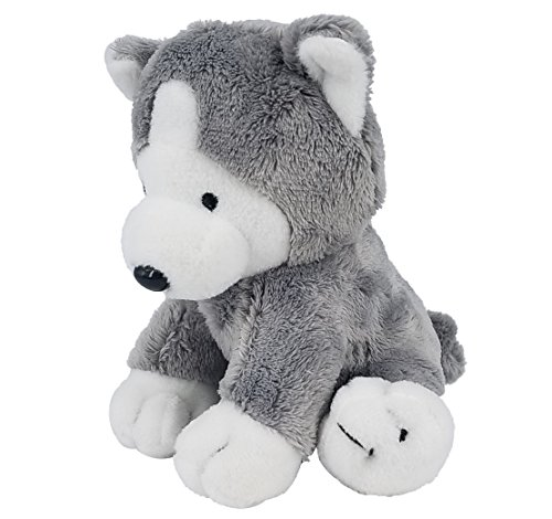 Puppy Stuffed Animal with Vibrating for Dogs, Girls, Boys or Baby | Ultrasoft Stuffed Animal Plush Toy | Black and Gray | 5.5 inches