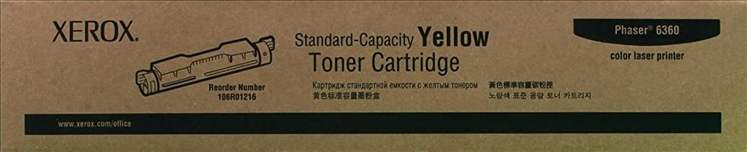 Xerox 106R01216 Phaser 6360 Toner Cartridge (Yellow) in Retail Packaging