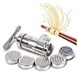 Máquina para Hacer Pasta, Manual, Portátil, De Acero Inoxidable, Máquina para Hacer Pasta, Máquina para Hacer Pasta, Máquina para Hacer Pasta con 5 Modelos, Herramientas para Kit De Prensa