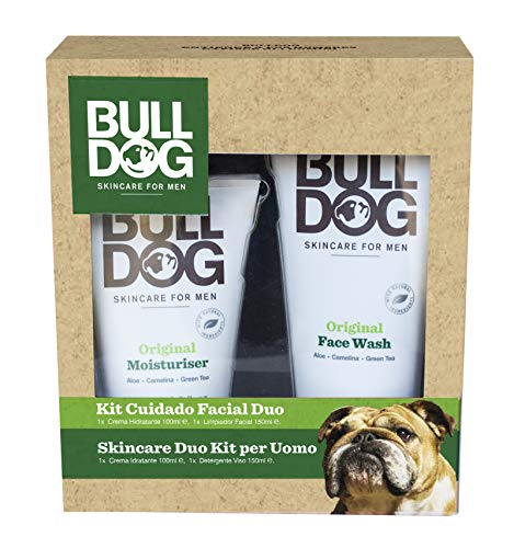Bulldog Kit di Crema Idratante e Detergente Viso - 2 Confezioni da 100 ml e da 150 ml