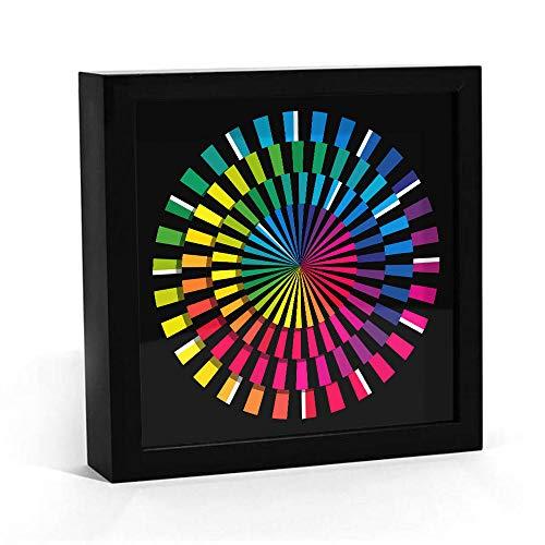 Spectrum Design Hexagon Wanduhr Bunte Moderne Tischuhr Kunstuhr Zeitlose Zeitmesser Faszinierende handgefertigte Schreibtischuhr